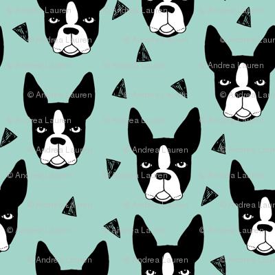 boston terrier // mint boston terriers cute dog best dog fabric