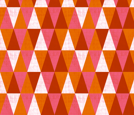 Red triangles fabric by cjldesigns on Spoonflower - custom fabric