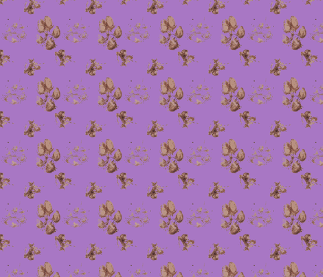 Muddy paw prints - purple fabric by rusticcorgi on Spoonflower - custom fabric