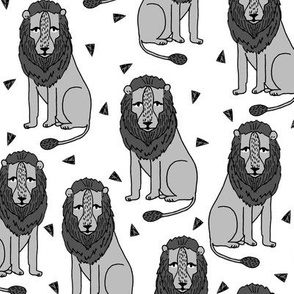lion // grey zoo safari charcoal safari lions africa cecil