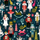 nutcracker // nutcracker ballet xmas holiday christmas fabric christmas design by andrea lauren