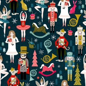 nutcracker // nutcracker ballet xmas holiday christmas fabric christmas design by andrea lauren