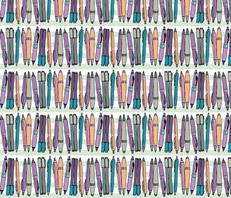 Time to Draw fabric by pinkowlet on Spoonflower - custom fabric