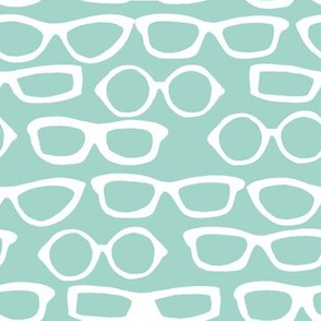 Glasses - Pale Turquoise by Andrea Lauren