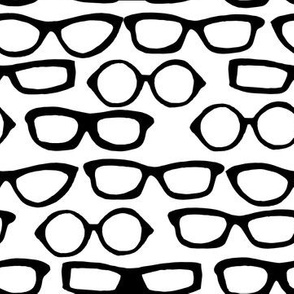 Glasses - White and Black by Andrea Lauren