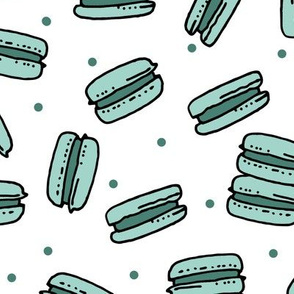 macaron // french bakery mint cute pastel girls girly cute sweets fabric