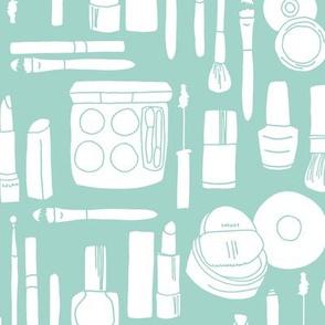 makeup // mint fabric makeup design beauty fabrics