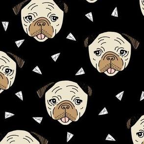 Pugs - Black by Andrea Lauren