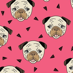 Pugs - French Rose by Andrea Lauren