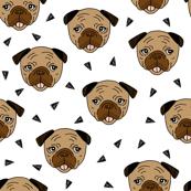 Pugs - Brown by Andrea Lauren