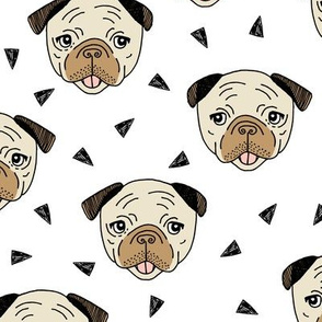 Pugs - White by Andrea Lauren