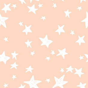 stars // blush star fabric andrea lauren design nursery baby girls star design