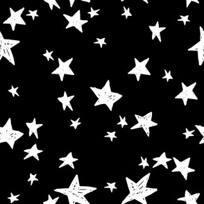 stars // black and white star fabric nursery baby scandi design andrea lauren fabric design