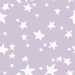 star // stars fabric lavender pastel light purple design andrea lauren fabric