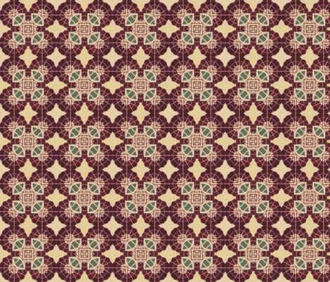 Paris Vintage Fan fabric by ingridrest on Spoonflower - custom fabric