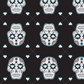 Diamond Sugar Skull Pattern