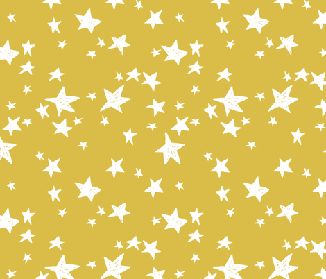 stars // mustard yellow star fabric andrea lauren design scandi design fabric by andrea_lauren on Spoonflower - custom fabric