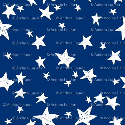 stars // navy blue star fabric night sky stars fabric by andrea lauren