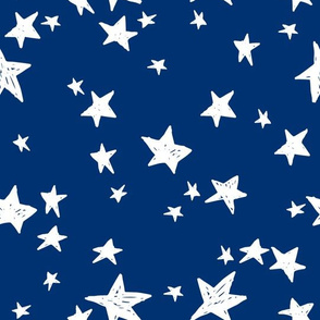 stars // navy blue star fabric night sky stars fabric by andrea lauren