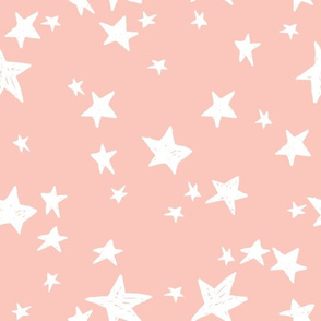 stars // pale pink baby nursery fabric peachy pink design andrea lauren fabric