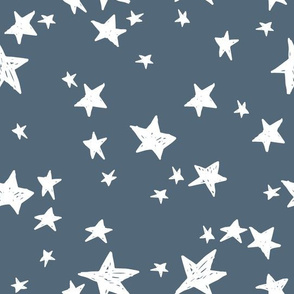 stars // payne's gray blue-grey star fabric nursery boys design star fabric