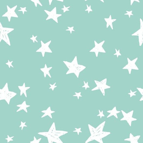 stars // pale turquoise star fabric stars baby nursery design andrea lauren fabric