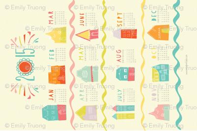 Happy Neighborhood 2015 Tea Towel Calendar