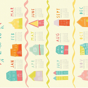 Happy Neighborhood 2015 Tea Towel Calendar