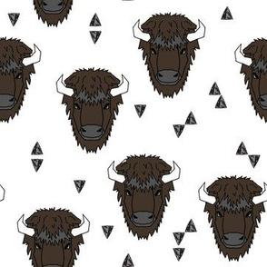 Buffalo Head - Brown by Andrea Lauren