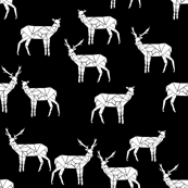 Deer - Black and white by Andrea Lauren