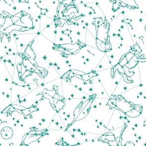constellations // animals constellation fabric nursery baby design