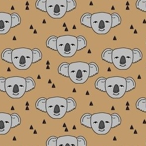 koalas // light brown background cute koala fabric best australian animals design cute australian animal koala pattern print fabric by andrea lauren