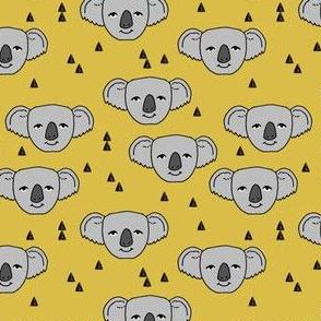 koala // mustard yellow koala design cute australian animals fabric best nursery australian fabric by andrea lauren