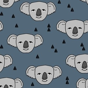 koala // blue grey koala fabric cute koalas design australian animals fabric cute australian baby fabric andrea lauren fabric andrea lauren design