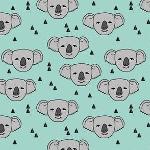 koala // cute pale aqua mint fabric cute australian animals fabric zoo animal fabric pattern andrea lauren fabric