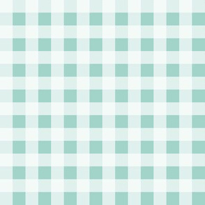 Buffalo Plaid - Pale Turquoise by Andrea Lauren