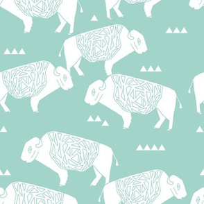 Buffalo - Pale Turquoise by Andrea Lauren