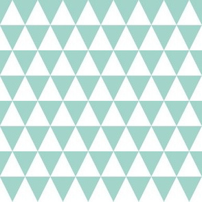 Triangle Rows - Pale Turquoise by Andrea Lauren