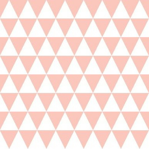 Triangle Rows - Pale Pink