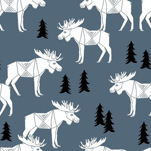 Moose Forest - Payne's Grey by Andrea Lauren