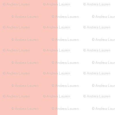 One Inch Stripes - Pale Pink by Andrea Lauren
