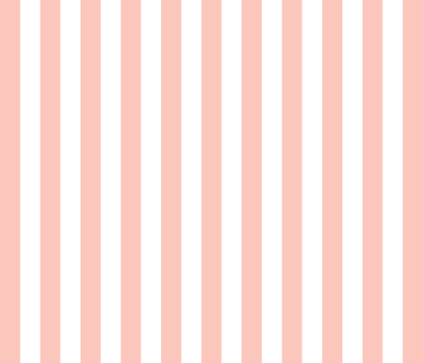 One Inch Stripes - Pale Pink by Andrea Lauren  fabric by andrea_lauren on Spoonflower - custom fabric