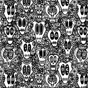 Calaveras - Black and White
