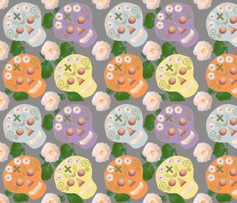 Colorful_calaveras_1a fabric by ruthjohanna on Spoonflower - custom fabric