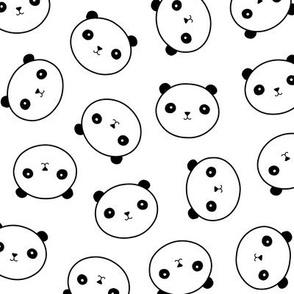 Panda Heads Fabric