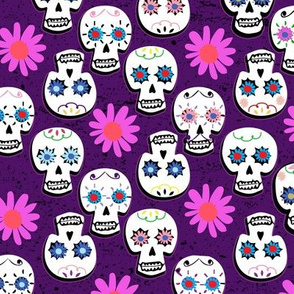 Bright Purple Calavera