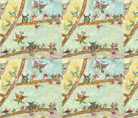 Owls and Friends-ed fabric by abbatedesignstudio on Spoonflower - custom fabric
