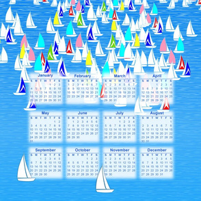 2015 calendar sailing portrait layout