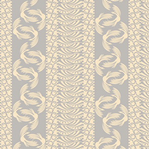 swan stripe on iced french blue