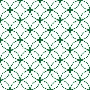 Circle Lock ~ Gaeil Green on White